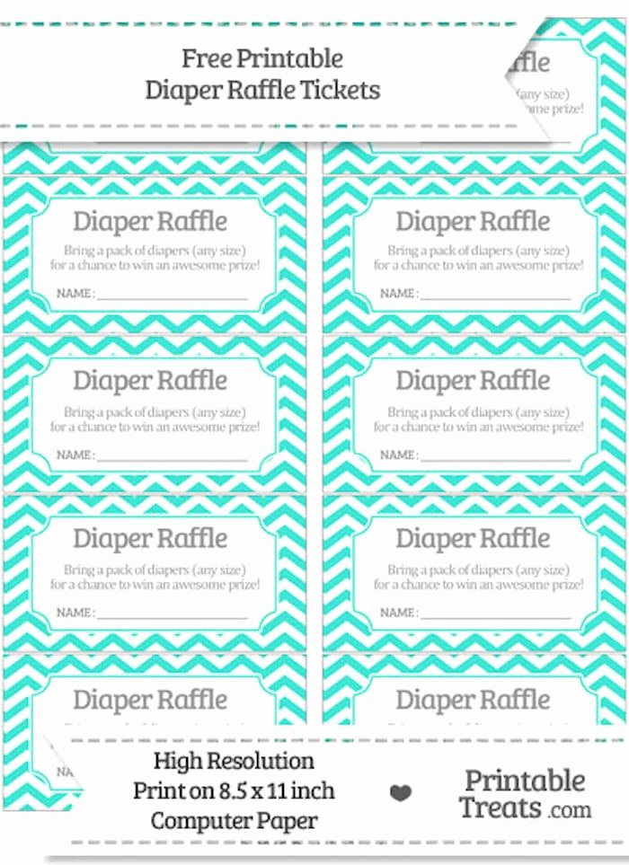 Diaper Raffle Template Free Awesome 10 Free Printable Diaper Raffle Tickets