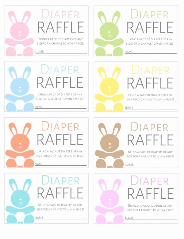 Diaper Raffle Template Free Awesome Free Printable Diaper Raffle Tickets