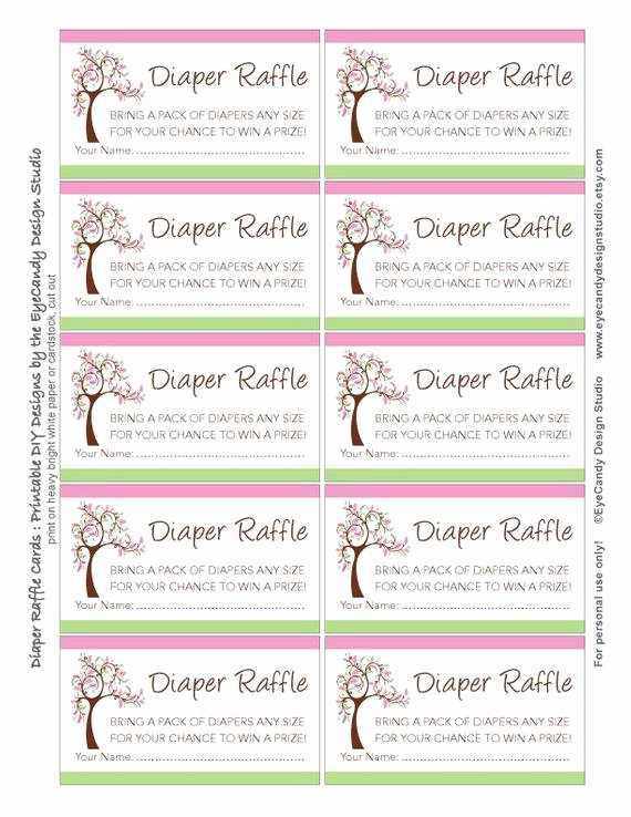 Diaper Raffle Template Free Elegant Items Similar to Printable Fancy Tree Garden Diaper Raffle