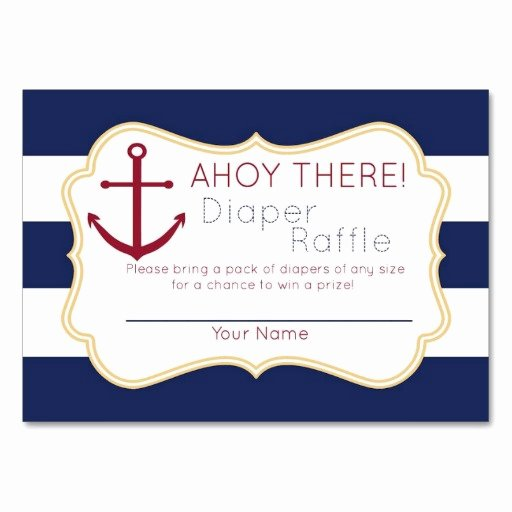 Diaper Raffle Template Free Luxury 8 Best Of Free Printable Diaper Raffle Nautical