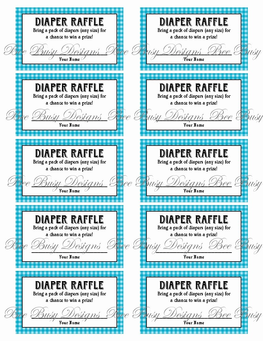 Diaper Raffle Template Free Luxury Diaper Raffle Tickets Printable
