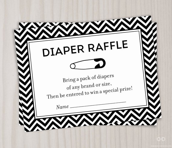 Diaper Raffle Ticket Template Beautiful 5 Best Of Black and White Printable Diaper Raffle
