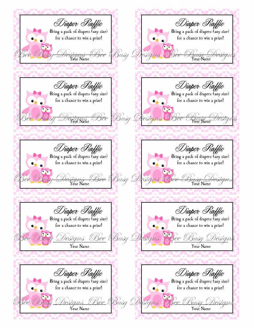 Diaper Raffle Ticket Template Best Of 9 Best Of Diaper Raffle Free Printables Free