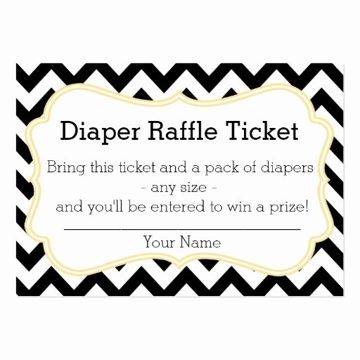Diaper Raffle Ticket Template Best Of Black and Yellow Chevron Diaper Raffle Ticket