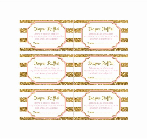 Diaper Raffle Ticket Template Elegant 24 Raffle Ticket Templates Pdf Psd Word Indesign