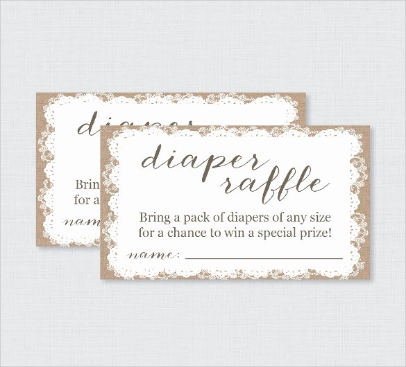 Diaper Raffle Ticket Template Fresh Sample Raffle Ticket Template 20 Pdf Psd Illustration