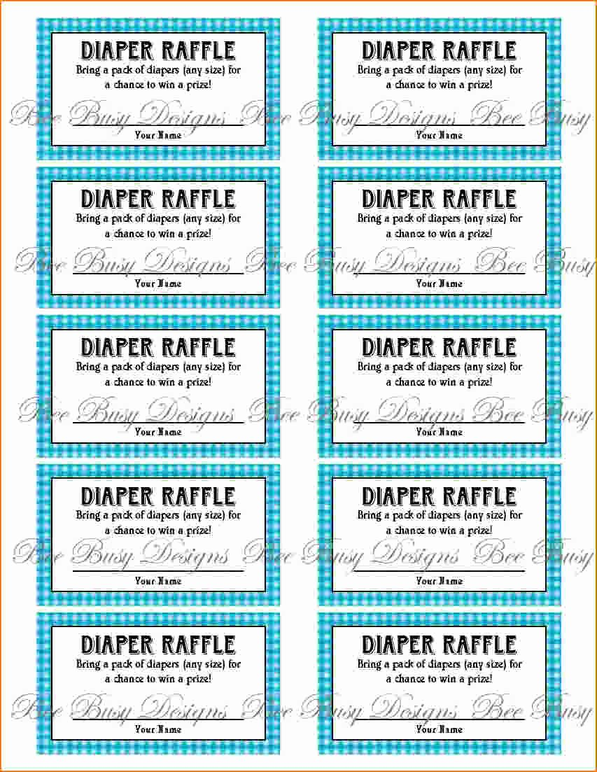 Diaper Raffle Ticket Template Lovely 4 Printable Raffle Tickets