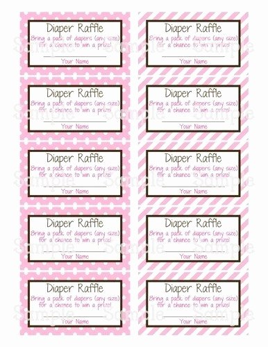 Diaper Raffle Ticket Template Lovely Diaper Raffle Ticket Template