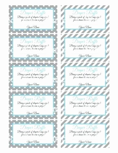 Diaper Raffle Ticket Template Unique Baby Shower Diaper Raffle Tickets Printable Template C