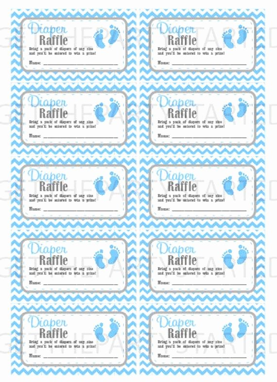 Diaper Raffle Ticket Template Unique Diaper Raffle Tickets Printable Baby Shower Raffle Tickets