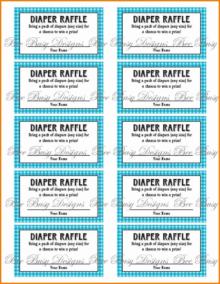 Diaper Raffle Tickets Template Beautiful Free Printable Raffle Ticket Template