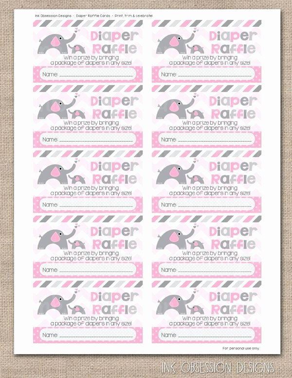 Diaper Raffle Tickets Template Best Of 157 Best Ink Obsession Printables Images On Pinterest