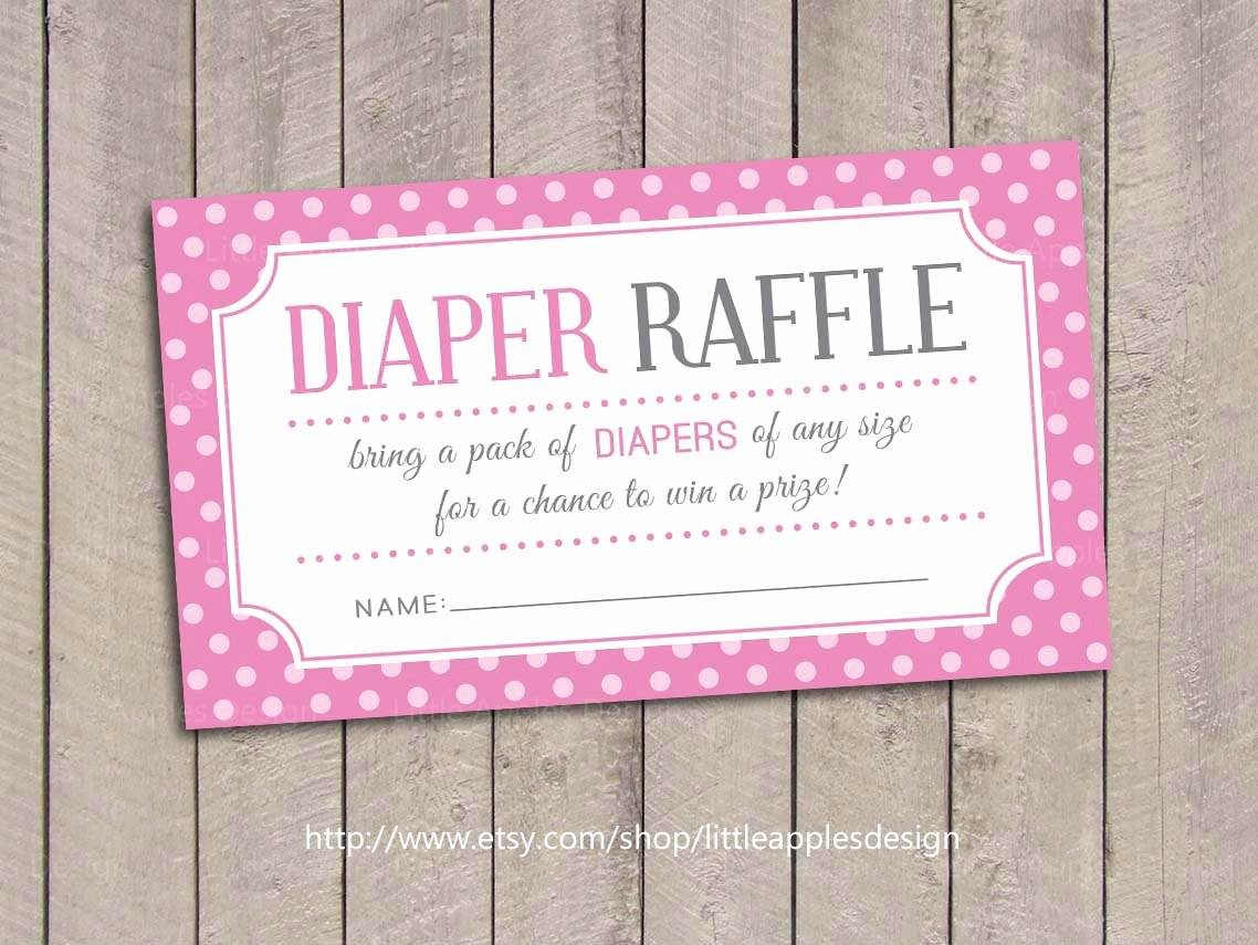 Diaper Raffle Tickets Template Elegant Baby Shower Diaper Raffle Tickets Pink Baby Shower Diaper