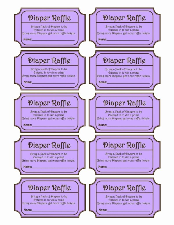 Diaper Raffle Tickets Template Elegant Diaper Raffle Baby Shower Ideas
