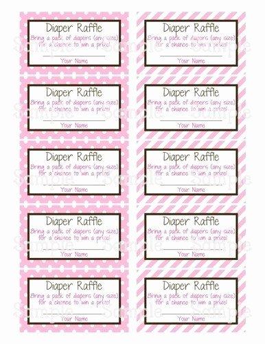 Diaper Raffle Tickets Template Inspirational Diaper Raffle Ticket Template
