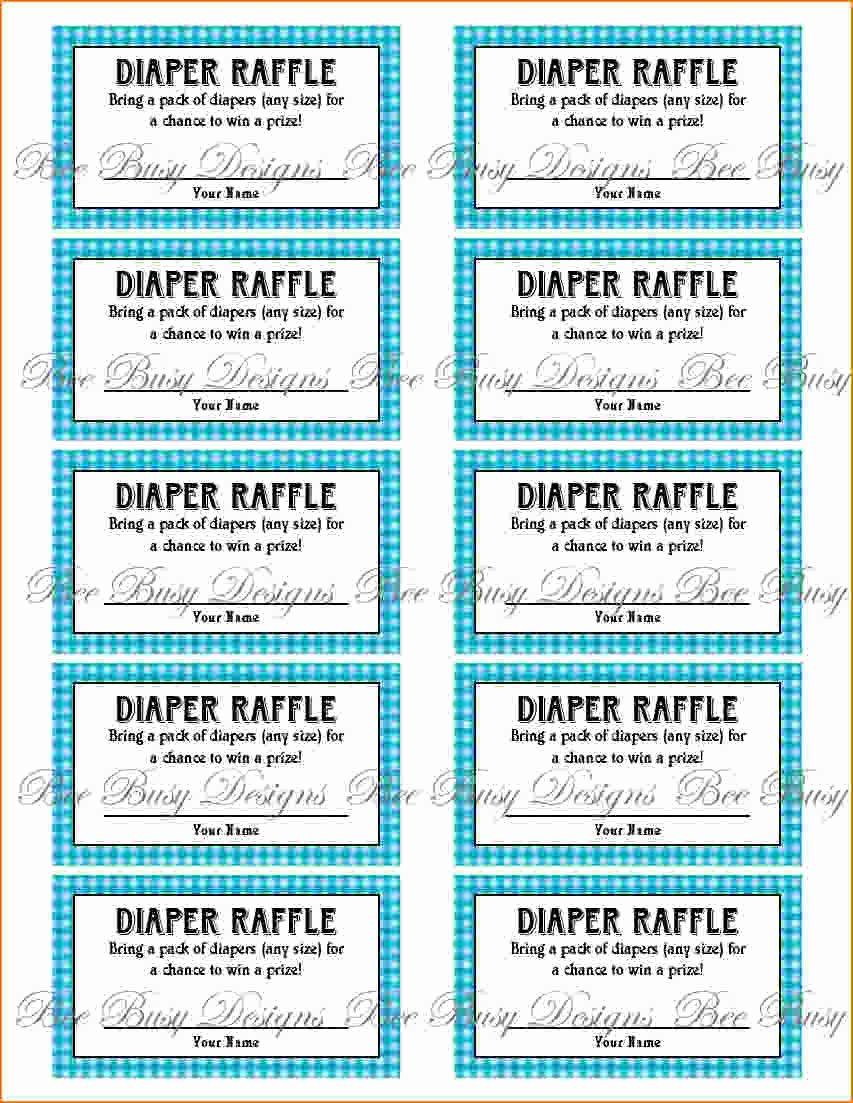 Diaper Raffle Tickets Template New 4 Printable Raffle Tickets