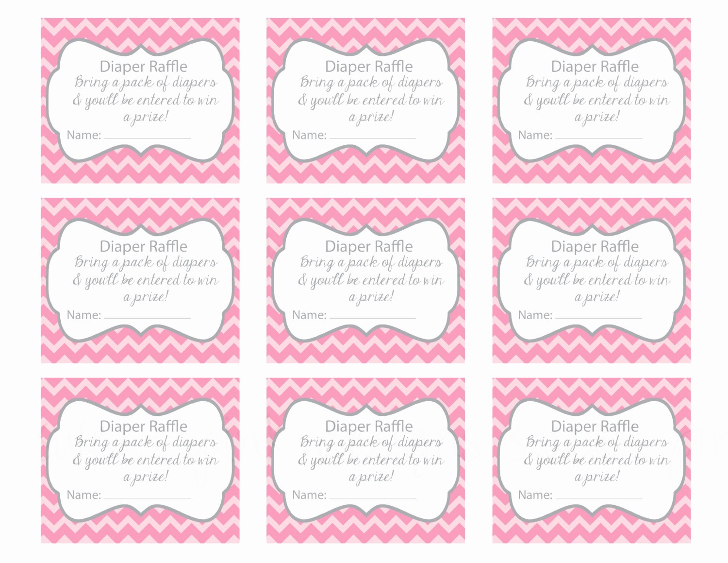 Diaper Raffle Tickets Template New Free Printable Baby Shower Raffle Tickets Template