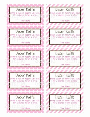 Diaper Raffle Tickets Template Unique 14 Best Images About Baby Shower On Pinterest