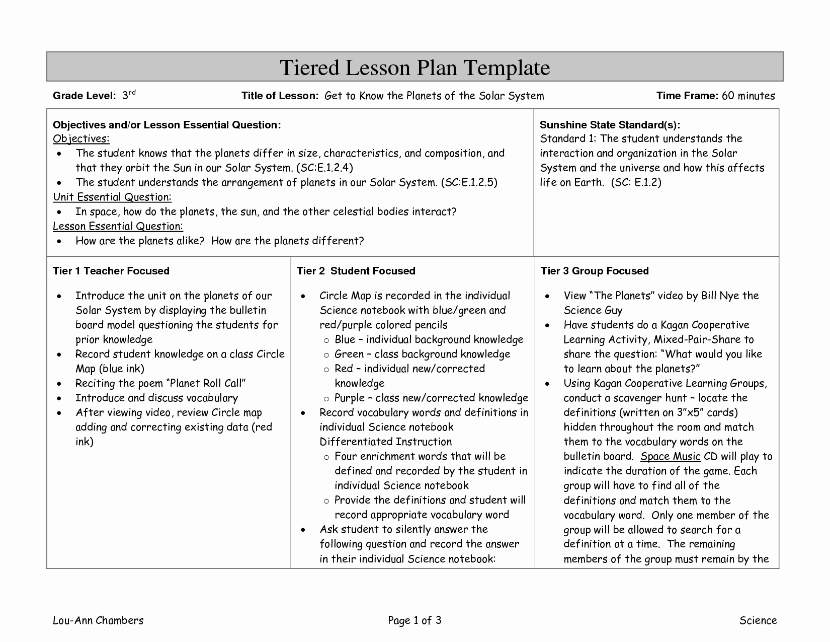 Differentiated Lesson Plan Template Best Of Differentiated Instruction Lesson Plan Template Image