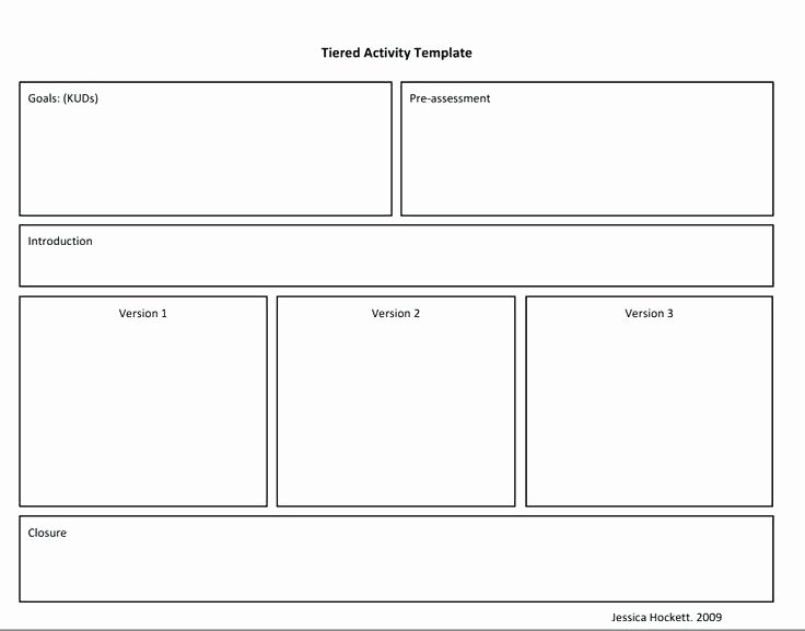 Differentiated Lesson Plan Template Inspirational Tiered Lesson Plan Template Differentiated Instruction