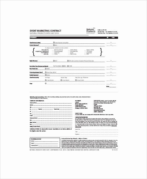 Digital Marketing Contract Template Beautiful 16 Marketing Contract Templates – Free Sample Example