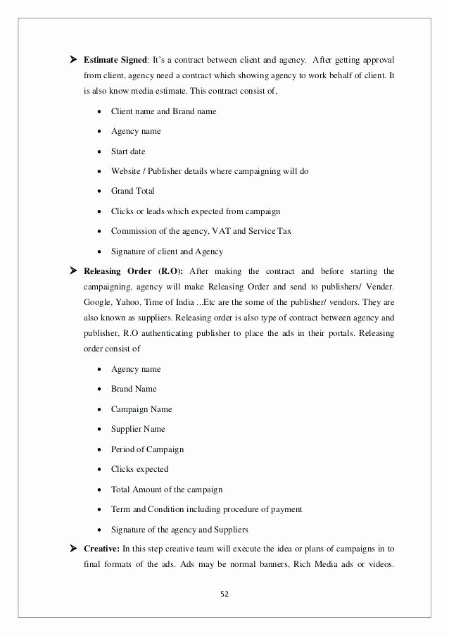 Digital Marketing Contract Template Elegant Marketing Services Contract Template Agreement for