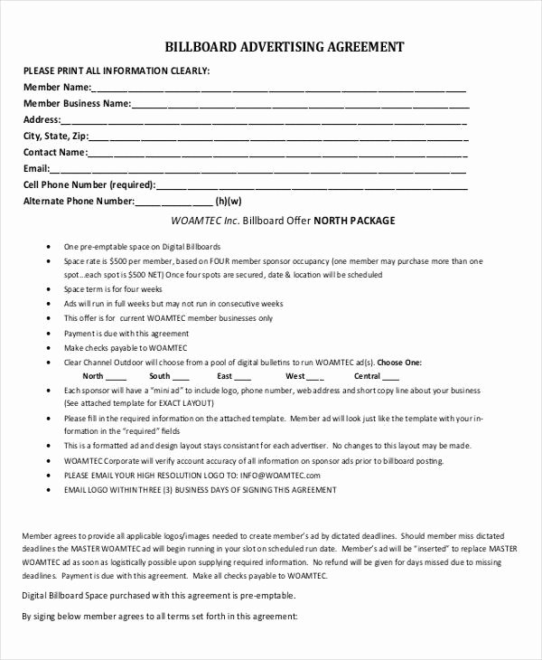 Digital Marketing Contract Template Fresh Advertising Contract Template 10 Word Pdf Google Docs