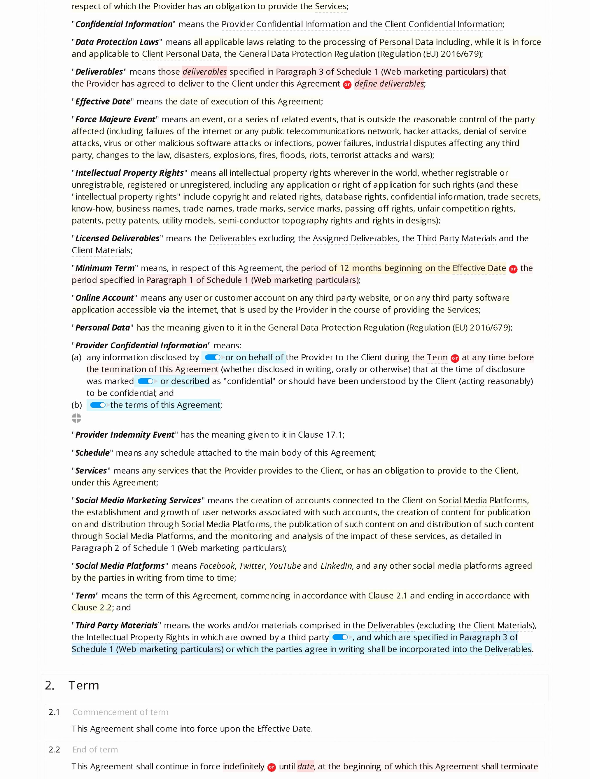 Digital Marketing Contract Template Lovely Marketing Agreement Contract Template