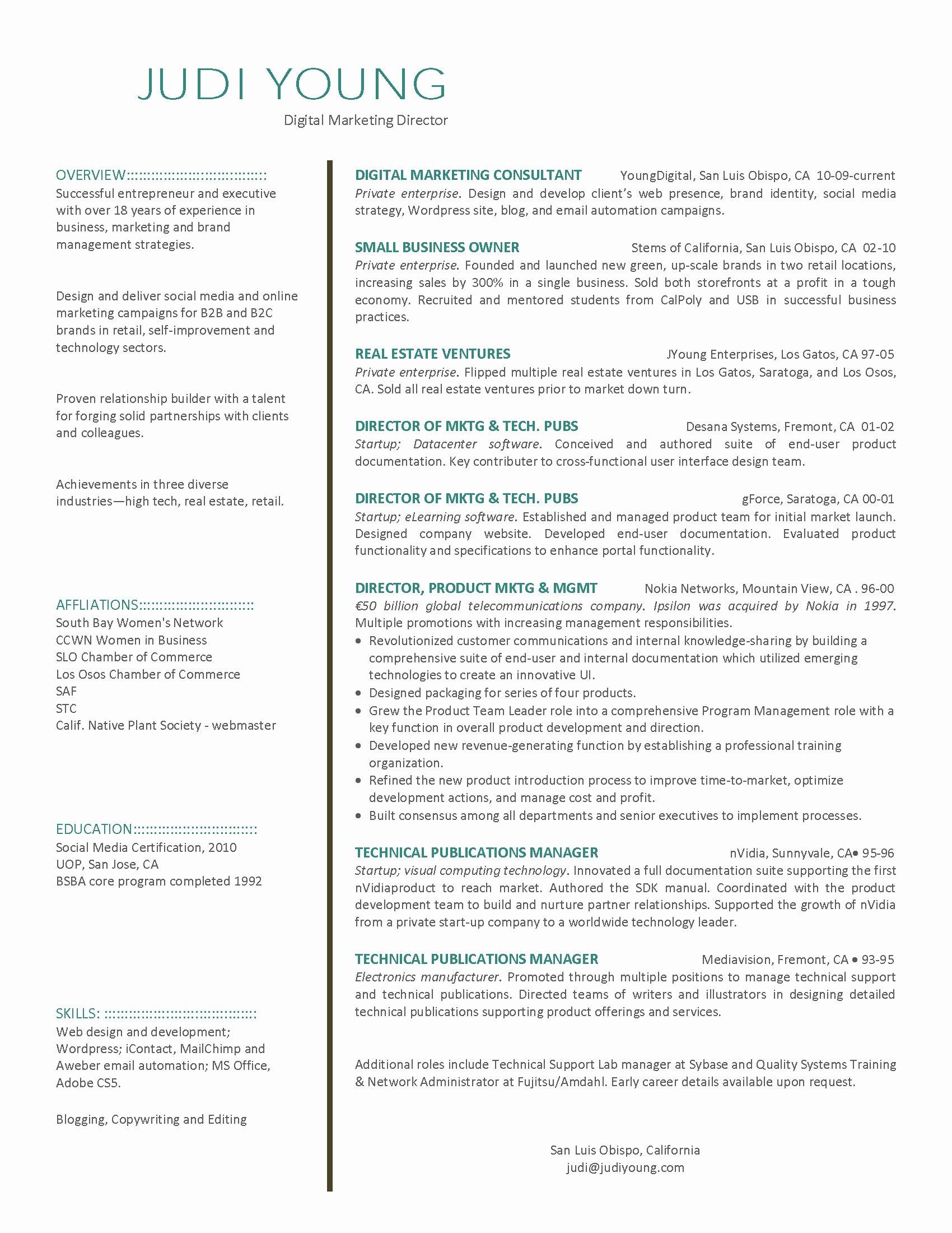 Digital Marketing Resume Template Best Of Digital Marketing Resume