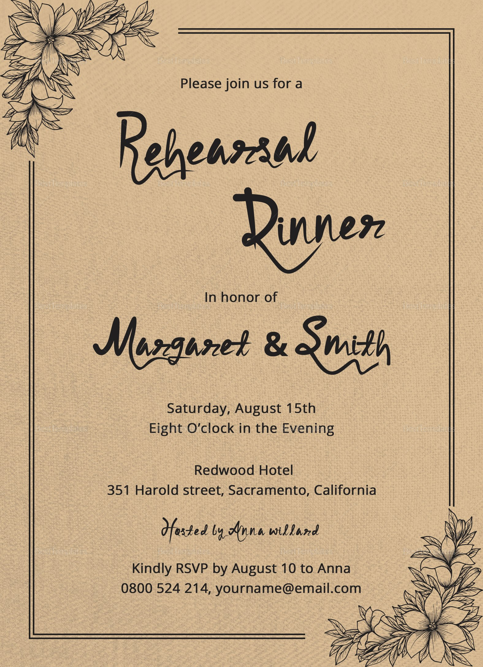 Dinner Invite Template Word Awesome Dinner Invitation Design Template In Word Psd Publisher