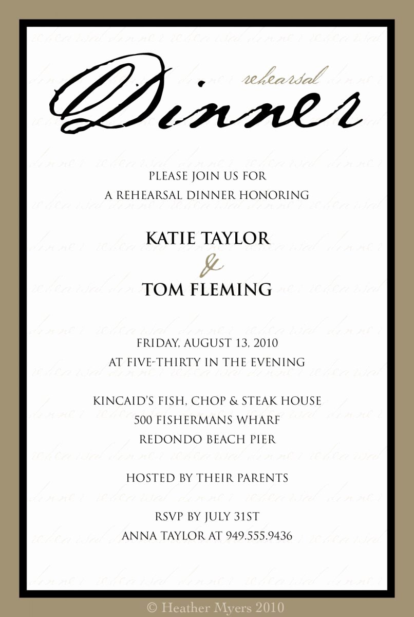 Dinner Invite Template Word Awesome formal Dinner Invitation Sample