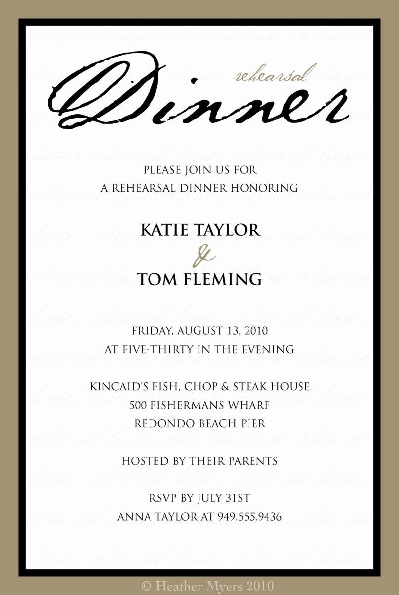 Dinner Invite Template Word Awesome formal Dinner Invitation Sample