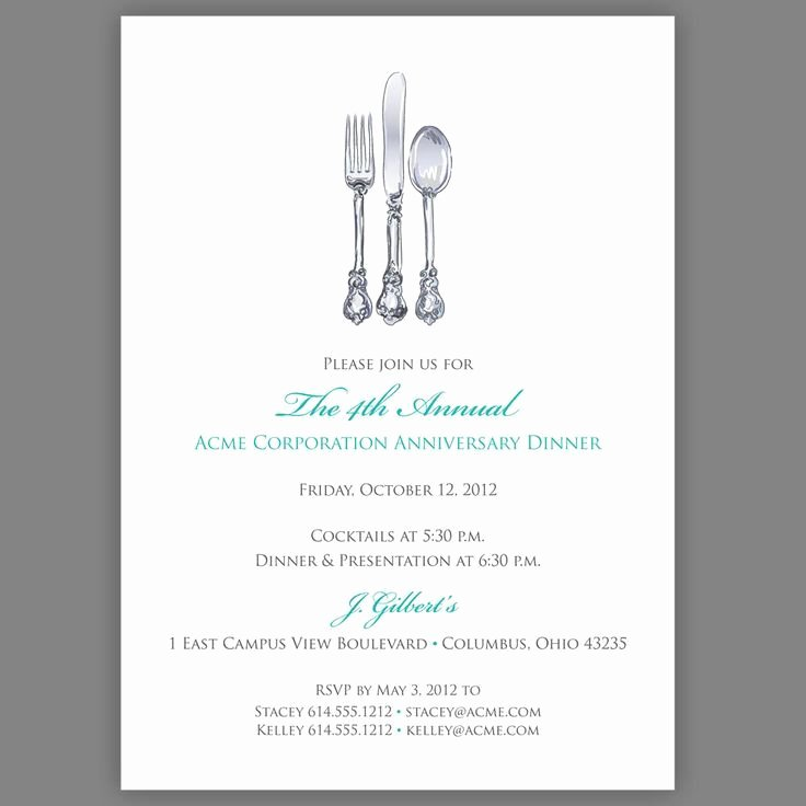 Dinner Invite Template Word Best Of Business Dinner Invitation Template Free Templates