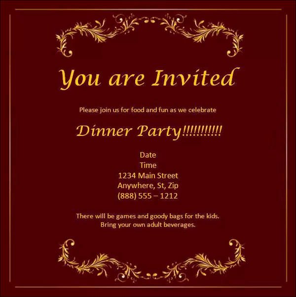 Dinner Invite Template Word Inspirational 52 Meeting Invitation Designs