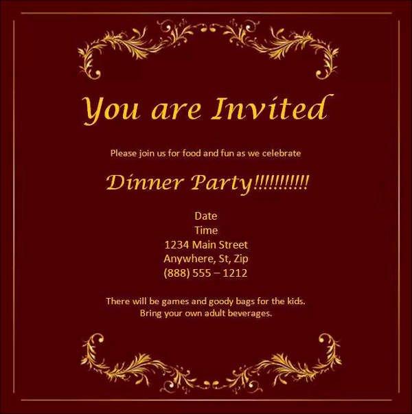 Dinner Invite Template Word Inspirational 52 Meeting Invitation Designs
