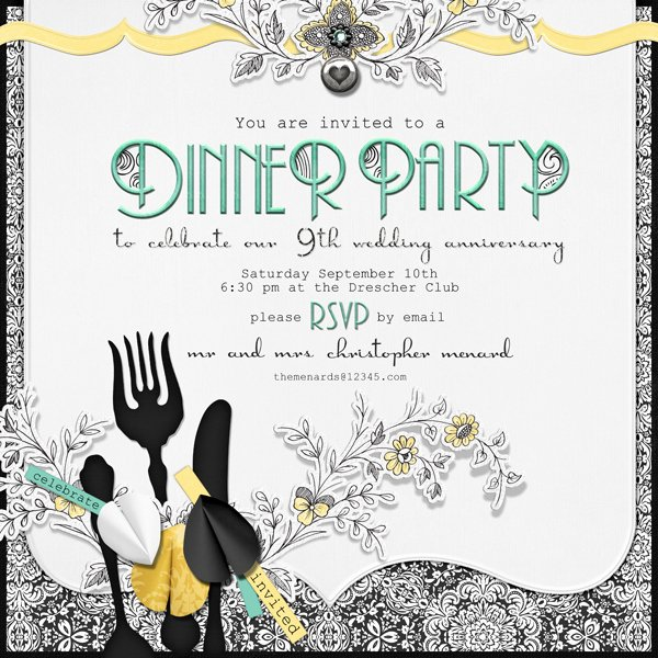 Dinner Invite Template Word New 11 Excellent Dinner Party Invitation Template Word