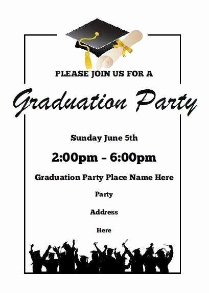 Dinner Invite Template Word New Free Graduation Party Invitation Templates for Word Luxury