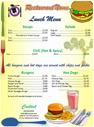Dinner Menu Template Word Inspirational Fice Menu Template Free Template Downloads