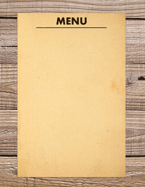Dinner Menu Template Word Lovely 37 Blank Menu Templates Pdf Ai Psd Docs Pages
