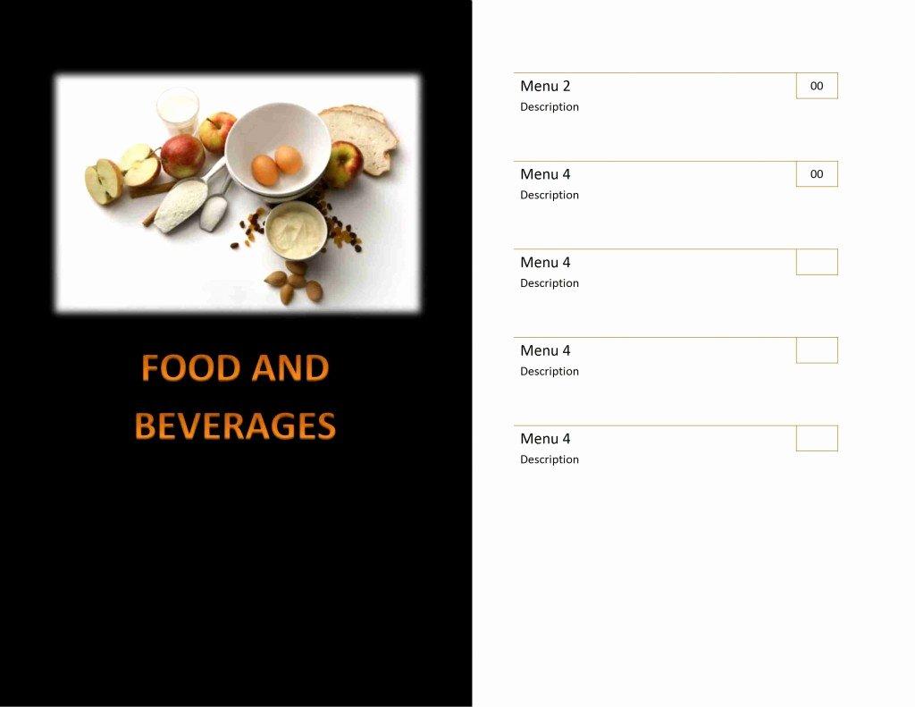 Dinner Menu Template Word Luxury Restaurant Menu