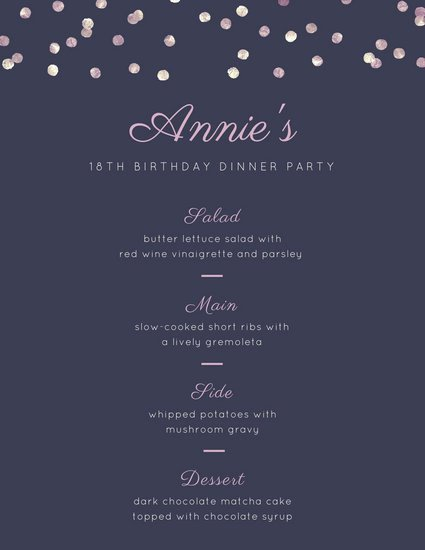 Dinner Party Menu Template Awesome Food Overlay Dinner Party Menu Templates by Canva