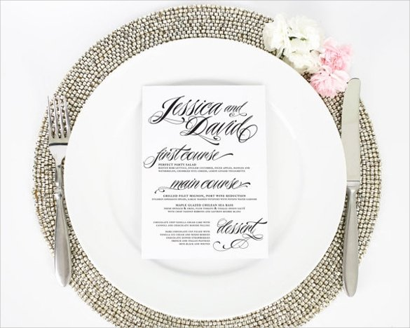 Dinner Party Menu Template Elegant Dinner Party Menu Template 16 Download Documents In Psd