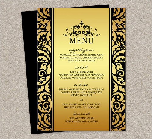 Dinner Party Menu Template Fresh 29 Menu Templates