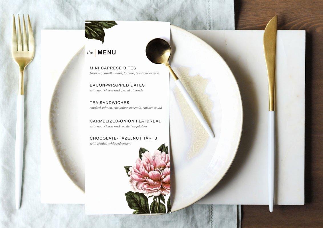 Dinner Party Menu Template Fresh Printable Dinner Party Menu Template Design Create