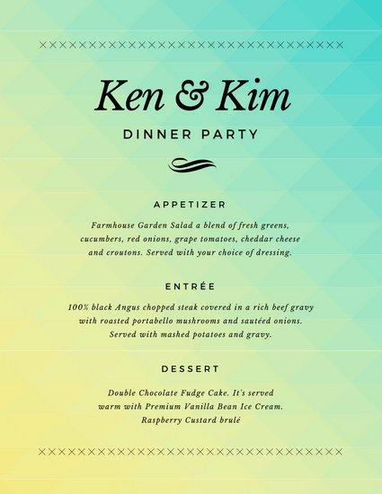 Dinner Party Menu Template Inspirational Simple Gra Nt Dinner Party Menu Templates by Canva