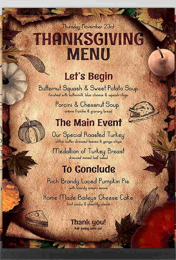 Dinner Party Menu Template Lovely 8 Dinner Party Menu Templates Psd Ai