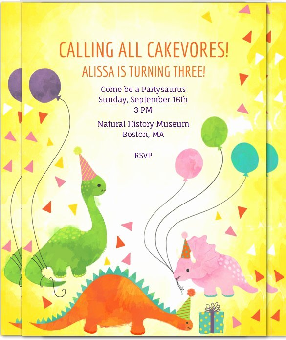 Dinosaur Birthday Invitation Template Beautiful 29 Dinosaur Birthday Invitation Designs & Templates Psd
