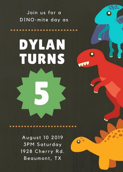 Dinosaur Birthday Invitation Template Beautiful Customize 3 999 Kids Party Invitation Templates Online