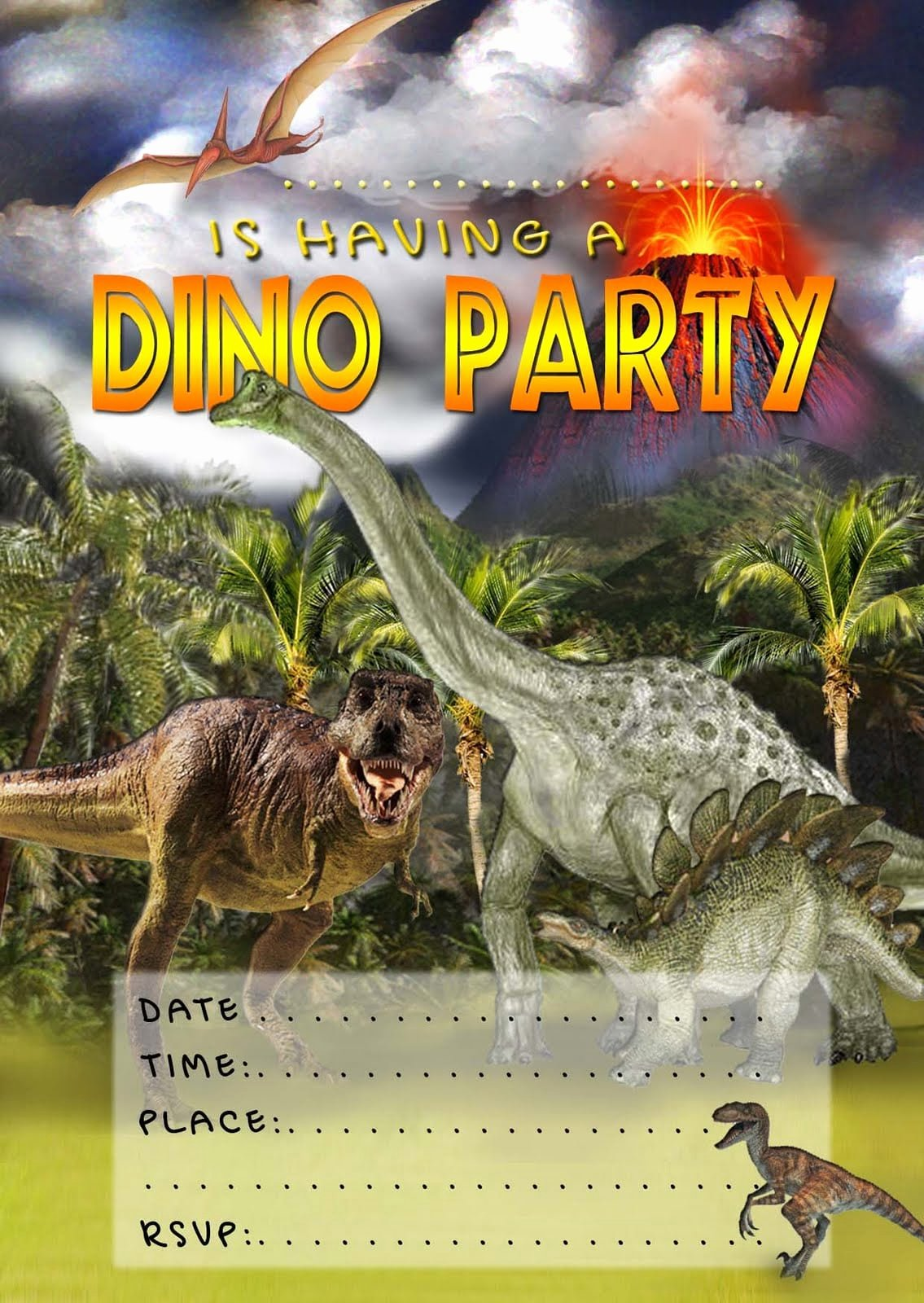 Dinosaur Birthday Invitation Template Elegant Free Printable Dinosaur Birthday Invitation
