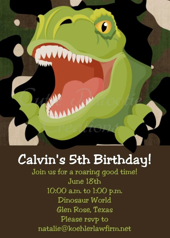 Dinosaur Birthday Invitation Template Fresh 25 Best Ideas About Dinosaur Birthday Invitations On